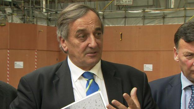 NFU president Meurig Raymond said the meeting lasted a lot longer than the one-hour slot it had been scheduled for (Photo: BBC)